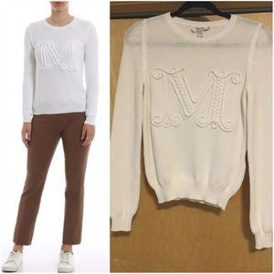MAXMARA  Avila embroidered cotton-blend sweater